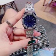 Audemars Piguet AP 愛彼時尚女士腕錶 鑲鑽鋼帶手錶 日本石英機芯兩針半女錶 高端大氣 多色可選