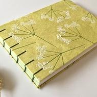 Coptic binding notebook B6 / Lokta paper/ Guestbook/ Sketchbook/ Travel journal