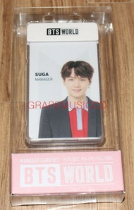 BTS WORLD OFFICIAL GOODS SUGA PHOTOCARD MANAGER CARD SET NEW