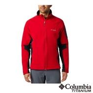 【Columbia 哥倫比亞】男款-鈦 Omni-HEAT鋁點保暖防潑軟殼外套-紅色(UEE02480RD / 防潑.保暖.透氣)
