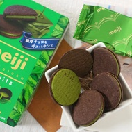 【現貨】日本明治Meiji巧克力抹茶夾心巧克力餅乾草莓夾心餅乾96g