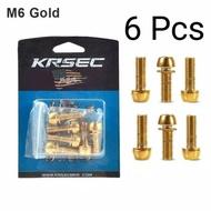 6 Pcs Gold Krsec Stem Bolt Size M6 X 18mm Or 6mm Ti Titanium Bolt Model L Key