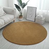 圓形地毯 家用加厚純色超柔棉絨客廳茶幾臥室床邊圓形地毯坐墊吊籃電腦椅墊 bw3080