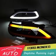 雙色 LED晝行燈 福特 蒙迪歐 Ford Mondeo 13-16年 日間行車燈 捷豹款 帶轉向信號 日行燈 霧燈改裝