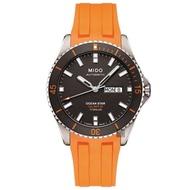 【MIDO】美度 OCEAN STAR海洋之星80動力鈦潛水機械錶-灰x橘/42mm(M0264304706100)