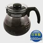【日本 HARIO】泡茶咖啡兩用 耐熱玻璃壺1000ml (TC-100B)