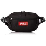 FILA 日本限定 FM2141 FILA LOGO TAPE WAIST BAG 帆布 腰包 / 側背包 (黑色)
