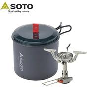 【【蘋果戶外】】SOTO SOD-320PC 攻頂爐組(SOD-320+SOD-511) 攻頂爐+登山輕巧鍋 鋁合金個人鍋 登山 露營 旅遊