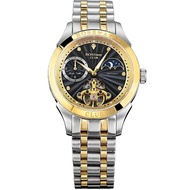 【BOSSWAY】豪邁非凡飛輪機械錶(黑-45mm)