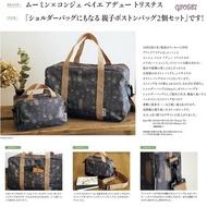 Moomin x congés payés ADIEU TRISTESSE กระเป๋าเดินทาง + ใบเล็ก มูมิน กระเป๋ามูมิน กระเป๋าเดินทางญี่ปุ่น กระเป๋า
