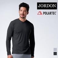 【JORDON 橋登】POLARTEC POWER DRY V領保暖內層衣(773 黑色)