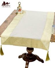 [約140cm*50cm]含印度的金絲線的桌子賽跑者/桌布台布桌子搭配竹莢魚安家具族群雜貨 TIRAKITA