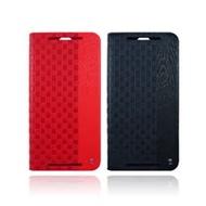 Lilycoco HTC One E9 Plus 編織紋側翻皮套 E9+