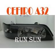 ●○RUN SUN 車燈,車材○● 全新日產96 97 98 99 00 CEFIRO 風度 A32 黑框 大燈 3.0