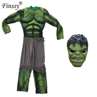 online hulk costume kids boys incredible Children s Superhero Avengers hulk Halloween muscle Green c