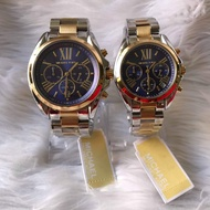 Michael Kors Two-Tone Black Bradshaw Authentic and Pawnable watch - Mens Watch OR Womens watch for Formal or Casual