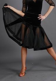 蕾絲國標拉丁舞裙 (S16028)  S~XXL