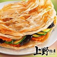 【上野物產】手工製作九層塔蔥抓餅 x5(1350g±1.5%/約10片/包 蔥抓餅 蔥油餅 早餐 蛋餅)