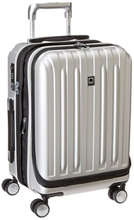 DELSEY Paris Luggage Helium Titanium International Carry On Expandable Trolley-19 Front Pocket Hard