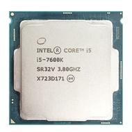英特爾酷睿i5-7600K i5 7600K 3.8 GHz四核四線程CPU處理器6M 91W LGA 1151
