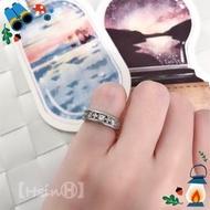 【HsinⒽ】現貨。鑲鑽316不銹鋼轉運戒指 戒指 寶石 尾戒 項鍊 不銹鋼 316 抗氧化 水鑽