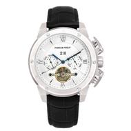 PARKER PHILIP派克菲利浦豪邁尊榮機械錶(銀殻/白面/黑帶)