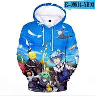 Hot Assassination Classroom Korosensei Anime Hoodie Sweatshirt Men/Women Hip Hop Pullover Fashion Sweatshirts Harajuku Clothing3Dprint hoodie hoodies sweatshirt coat