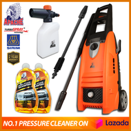 CNY 【CAR WASH SET】APACHE TurboSpray® HM5214 140 Bar High Pressure Cleaner | Water Jet | Pump Sprayer Washer | Jet Pencuci | FREE Turbo Nozzle | FREE G201 Foam Cannon | FREE 1-Litre Snow Wash Shampoo |