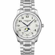 LONGINES 浪琴錶 L29094786 巨擘系列月相腕錶 鋼帶款 / 白面 40mm