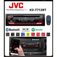 JVC KD-T712BT 1-DIN CD RECEIVER BLUETOOTH CAR AUDIO RADIO PLAYER USB STEREO RECEIVER MP3 PLAYER WITH REMOTE CONTROL