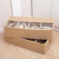 加厚透明鞋盒床底收納靴子鞋袋可組合鞋子收納箱鞋子收納盒長靴盒