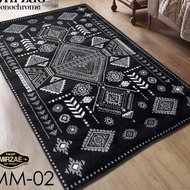 Peacock Price (Maroc Collections ID) Mirzae Black Carpet