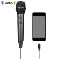 BOYA BY-HM2 Audio Microphone Cardioid Digital Handheld Microphone live Voice Music Recording Mic for iPhone Android PC Tablet