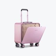 TUPLUSอลูมิเนียมแมกนีเซียมอัลลอยกรณีรถเข็นชายกระเป๋าเดินทางขนาดเล็กมินิปีนเขาตัวถังด้านข้างเปิด16-กระเป๋าเดินทางขนาดนิ้ว