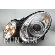 ●○RUN SUN 車燈,車材○● 全新 賓士 02 03 04 05 奔馳 W211 LED R8 晶鑽魚眼 大燈