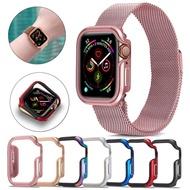 Slim กรอบนาฬิกาสำหรับ Apple Watch Case 5 4 3 2 1 42 มม.38 มม.TPU ใสนุ่ม + ป้องกันโลหะผสมสำหรับ iWatch 4 3 44 มม.40 มม.