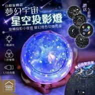 夢幻宇宙星空投影燈 自動旋轉款 送5套膠片 智能旋轉LED三色光源調整亮度 地球燈星球燈【ZJ0413】《約翰家庭百貨