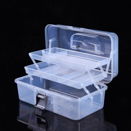 塑膠五金工具箱美甲美術透明收納箱家用大小號折疊 【快速出貨】