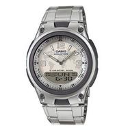 【CASIO 卡西歐】指針數字雙顯地圖不鏽鋼錶 AW-80D-7A2VDF