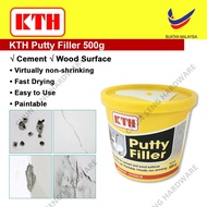 KTH Putty Filler for Cement and Wood surfaces Interior and Exterior Wall 500g