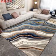 (^晶晶百貨^)輕奢客廳地毯復古后現代港式歐美式工業風藍色金色大理石線條地毯