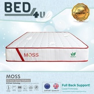 Bed4U - ECOlux (Moss) Queen/King/Single/S.Single Mattress Therapeutic Spring Mattress / 10 Inch
