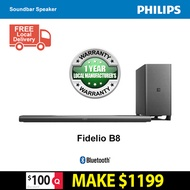 Philips Fidelio SkyQuake Dolby Atmos Soundbar Speaker with 5.1.2 CH Wireless Subwoofer