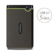 創見 行動硬碟 2TB 軍規防震 Slim薄型 原廠保固 USB3.1 StoreJet 25M3