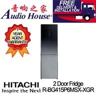 HITACHI R-BG415P6MSX-XGR 2 DOOR FRIDGE