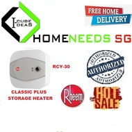 Rheem Classic plus storage heater    RCY-30   Free Delivery   Authorized Dealer