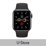 [U Store] Apple Watch Series 5 GPS Aluminium Case with Sport Band Space Grey Aluminium Case with Black Sport Band 40MM
