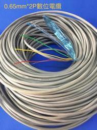 4芯電話線 20公尺 0.65mm*2P數位電纜純銅+接地線PE/PVC鋁箔遮蔽防干擾 04-22010101