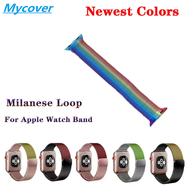 Rainbow Milanese Loop 手鍊不銹鋼錶帶, 適用於 Apple Watch Series Se 6 5