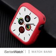 【iserisewatch】適用蘋果手表4/5代iwatch硅膠純色表殼38mm/44mm手表防摔軟殼apple wat